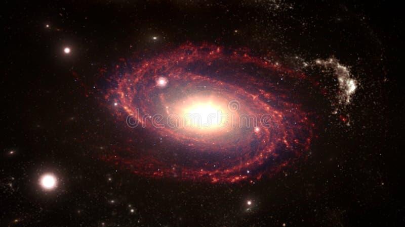 Planetas e galáxia, papel de parede da ficção científica Beleza do espaço profundo imagem de stock royalty free