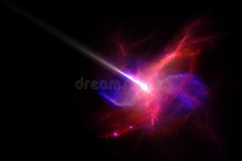 Planetas e galáxias, papel de parede da ficção científica Beleza do espaço profundo foto de stock