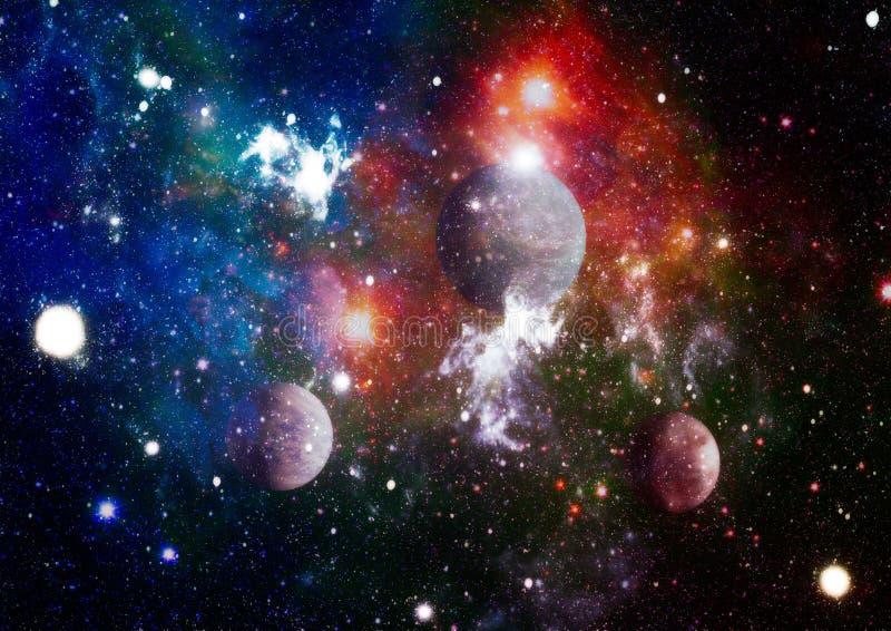 Planetas, estrelas e galáxias no espaço que mostra a beleza da exploração do espaço Elementos fornecidos pela NASA ilustração royalty free