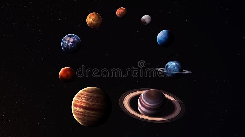 Planetas isolados qualidade do sistema solar da altura ilustração royalty free