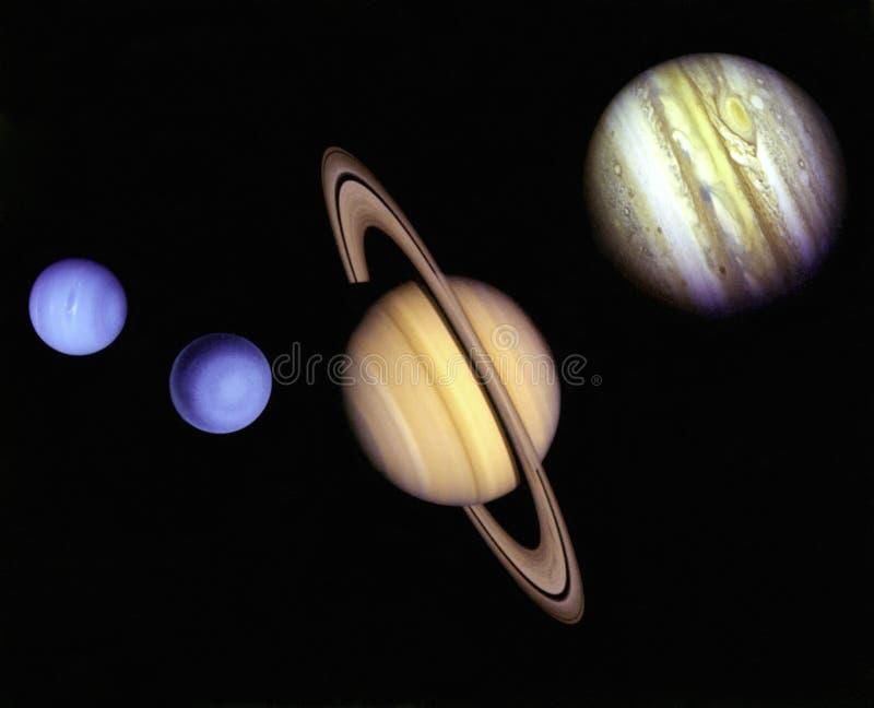 Planetas no espaço. ilustração royalty free