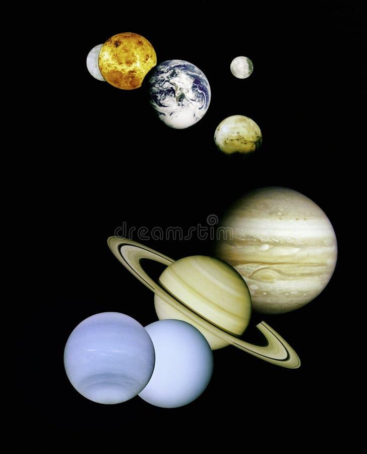 Planetas no espaço. fotografia de stock