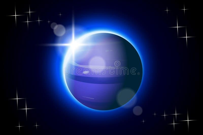 Planetas set13 Neptuno ilustración del vector