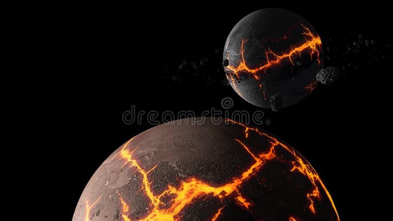 Planetas y galaxia, papel pintado de la ciencia ficción Belleza del espacio profundo fotos de archivo libres de regalías