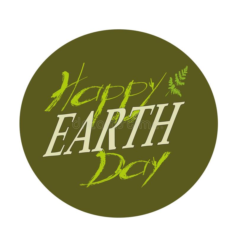 Planetas y hojas del verde 22 de abril Día de la Tierra feliz Tarjeta del Día de la Tierra Diseño del Día de la Tierra Ejemplo de libre illustration