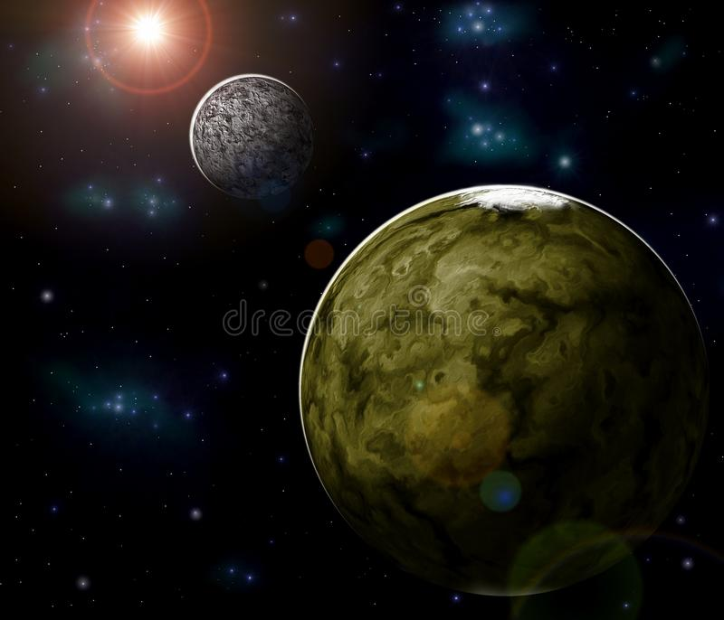 Planeten stock abbildung