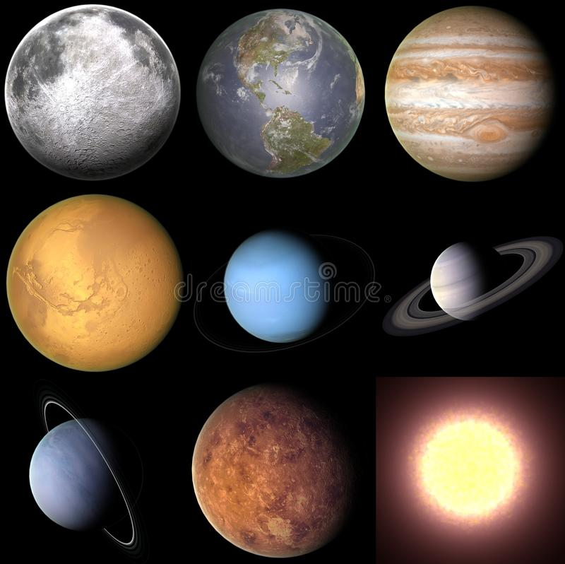 Planeten stock illustratie