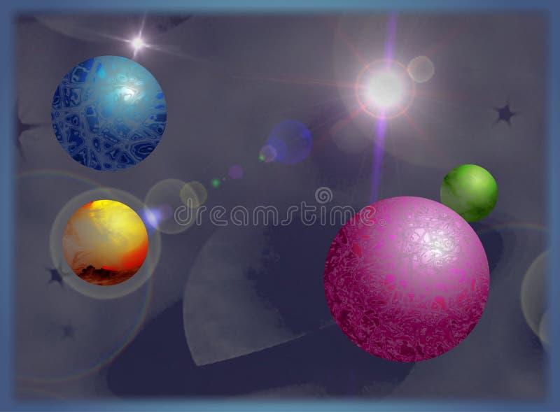 Download Planeten stock abbildung. Illustration von wissenschaft - 43013