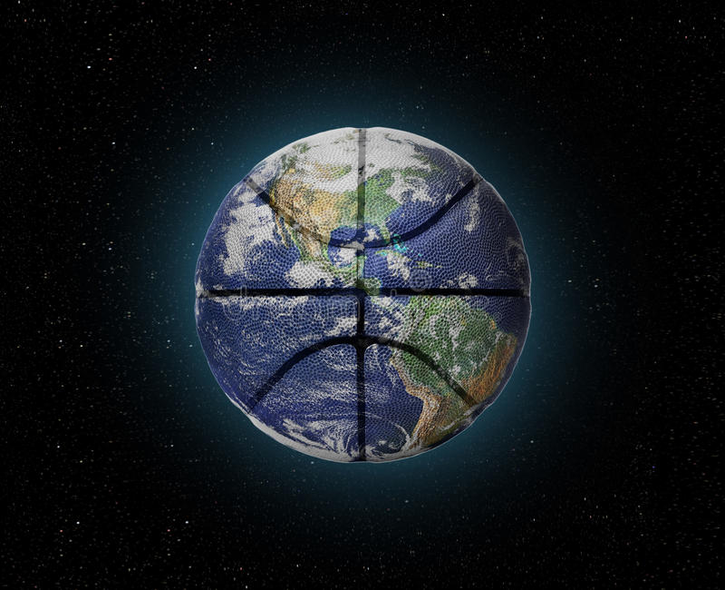 Planeten-Basketball lizenzfreie stockbilder