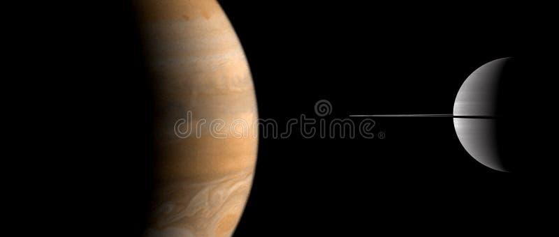 Planeten en melkweg, kosmos, fysieke kosmologie royalty-vrije stock foto