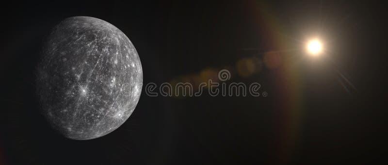Planeten en melkweg, kosmos, fysieke kosmologie stock afbeelding