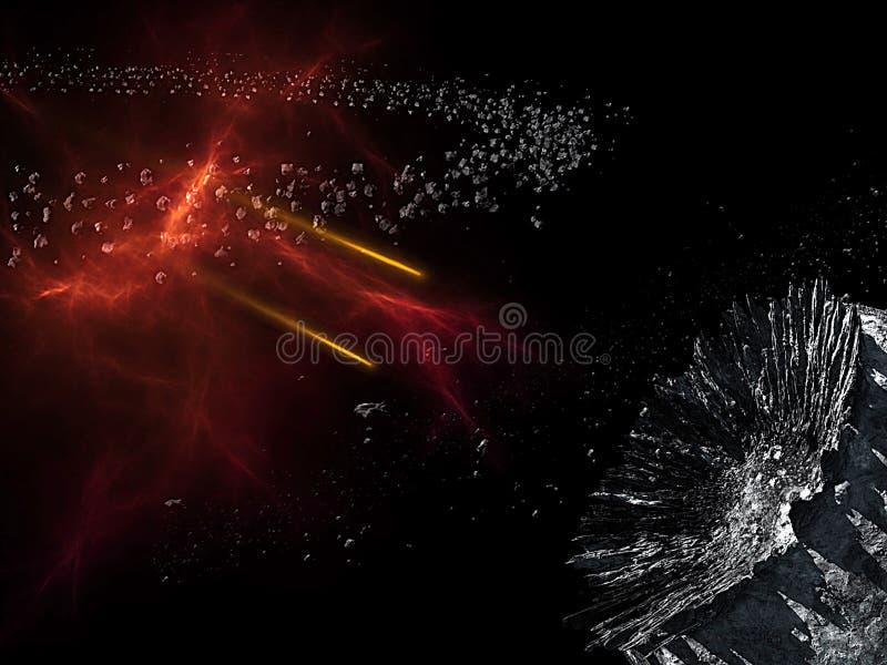 Planeten en melkweg, science fictionbehang Schoonheid van diepe ruimte Miljarden van melkweg op de achtergrond van de heelal Kosm vector illustratie