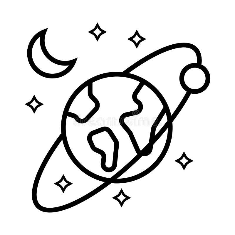 Planeten en sterren vector illustratie