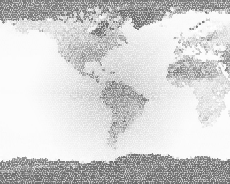 Planeten-Erde-Buntglas BW lizenzfreie stockfotos