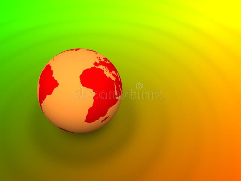 Planeten-Erde, die Kräuselungen bildet stock abbildung