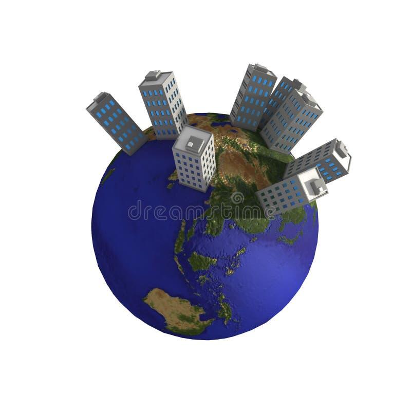 Planeten-Gebäude vektor abbildung