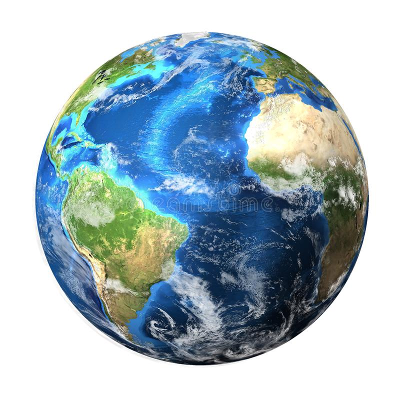 Planeten Jorden isolerad