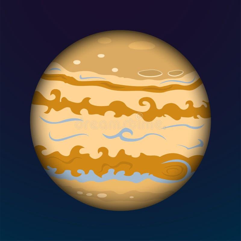 Planeten-Jupiter-Vektorillustration stock abbildung