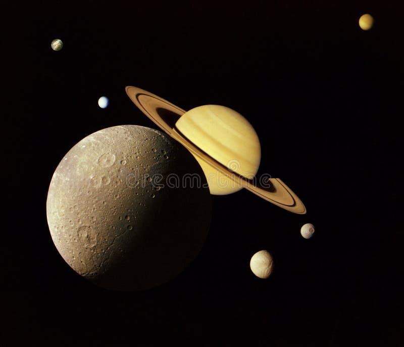 Planeten in kosmische ruimte. stock afbeelding