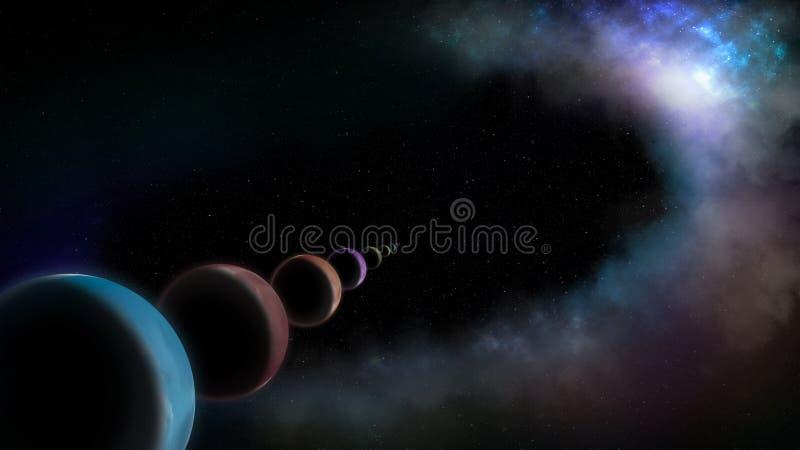 Planeten in lijn vector illustratie
