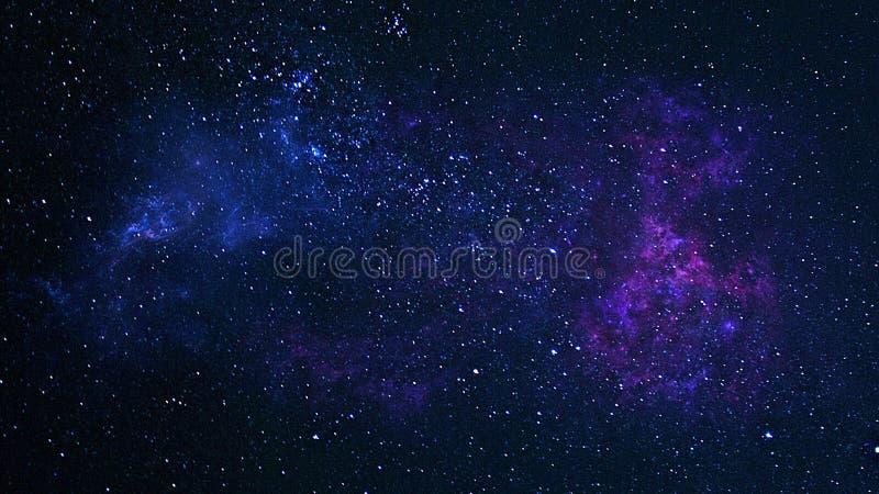 Planeten, melkweg, Heelal, Sterrige nachthemel, Melkachtige maniermelkweg met sterren en ruimtestof in het heelal, Lange blootste royalty-vrije stock foto's