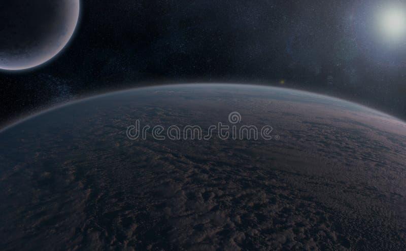 Planeten over de Nevel royalty-vrije stock afbeeldingen