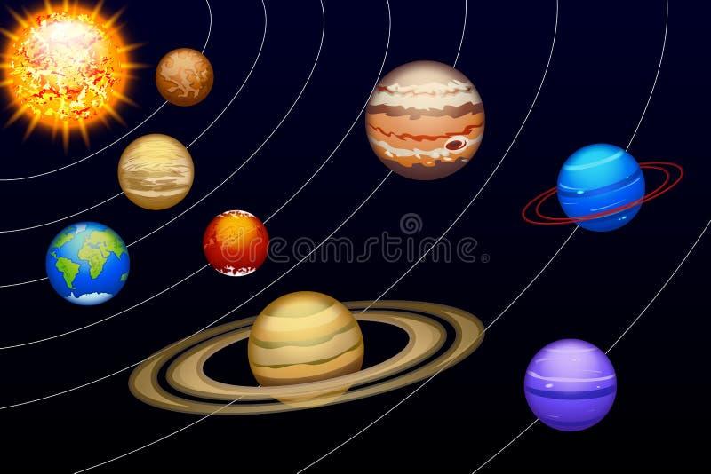 Planeten set14 royalty-vrije illustratie