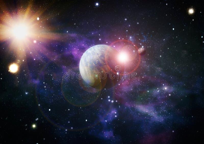 Planeten, sterren en melkwegen in kosmische ruimte die de schoonheid van ruimteexploratie tonen Elementen door NASA worden geleve royalty-vrije stock afbeelding