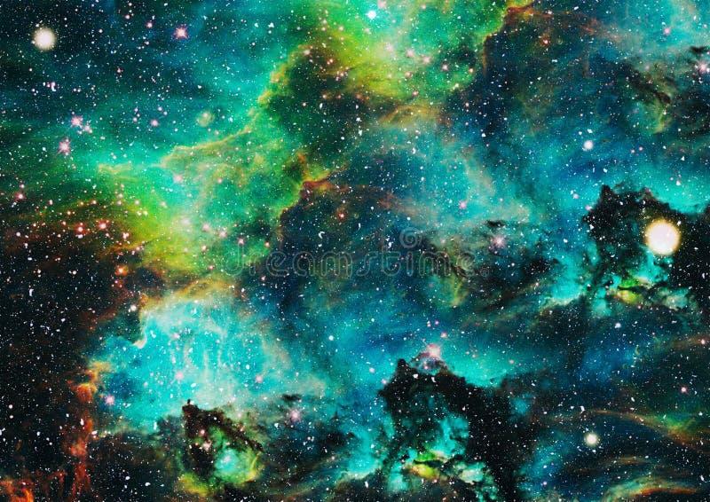 Planeten, sterren en melkwegen in kosmische ruimte die de schoonheid van ruimteexploratie tonen Elementen door NASA worden geleve royalty-vrije illustratie