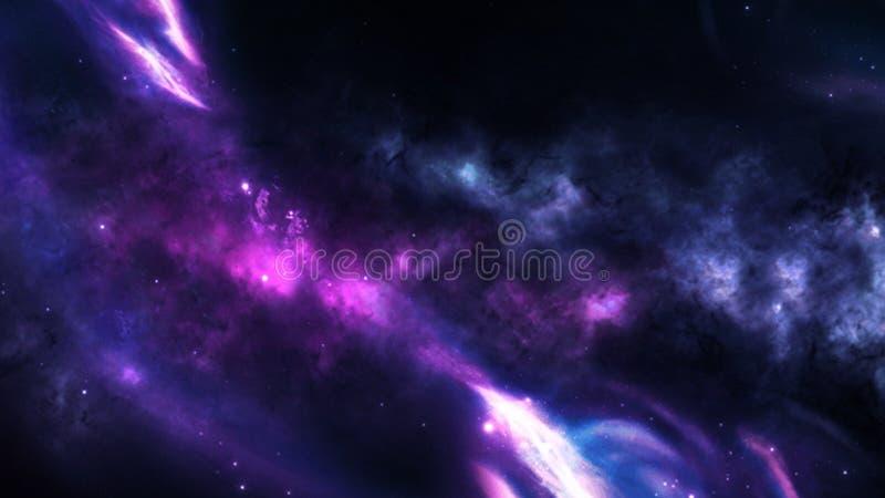 Planeten und Galaxie, Zukunftsromantapete Schönheit des Weltraums stockbild