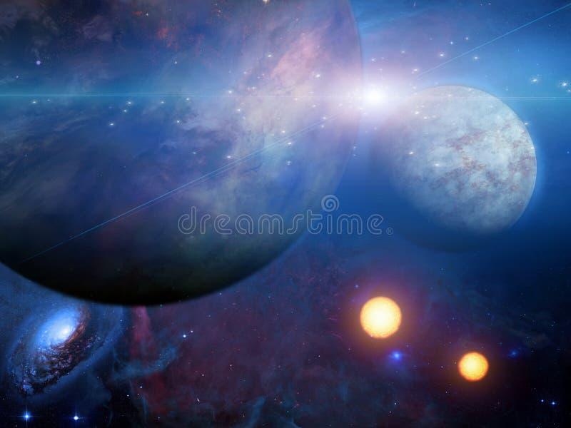 Planeten und Sonnen lizenzfreie abbildung