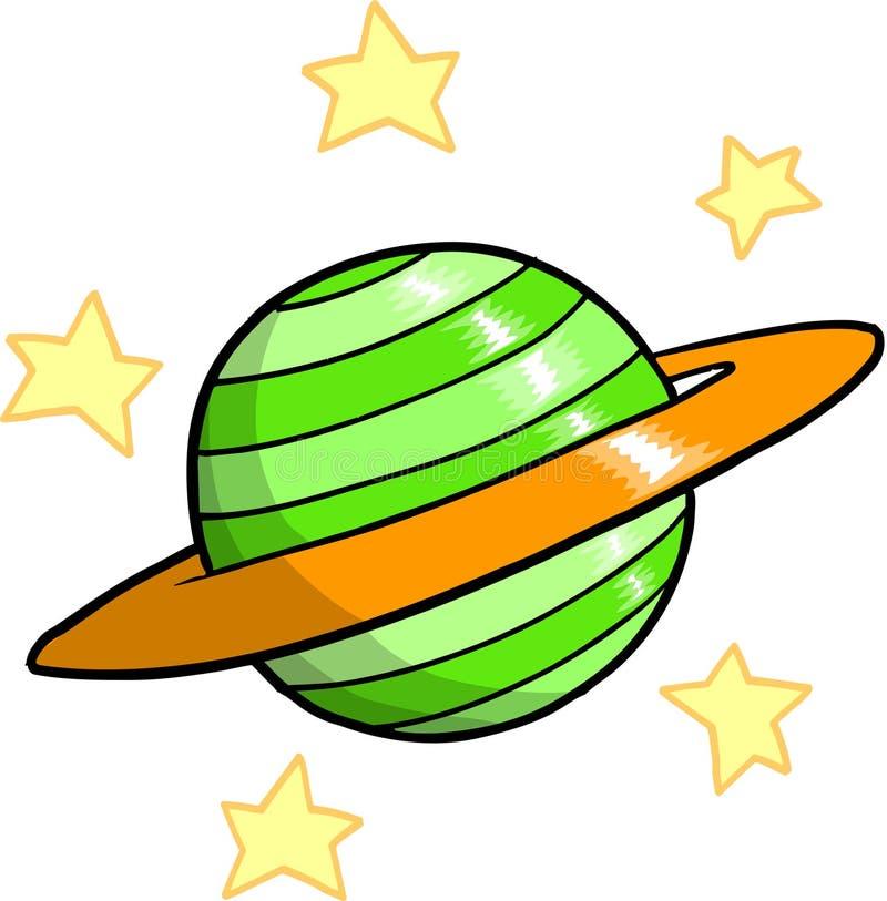 Planeten-und Sterne Vektor vektor abbildung