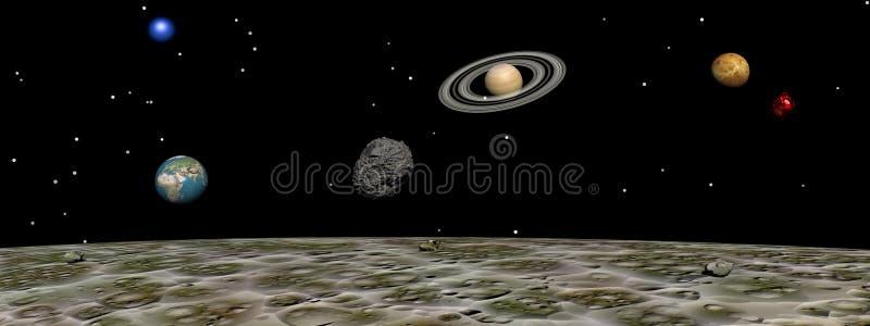 Planeten van de maan vector illustratie