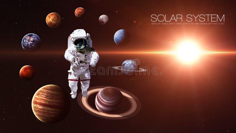 Planeten van het hoogte de kwaliteit geïsoleerde zonnestelsel vector illustratie