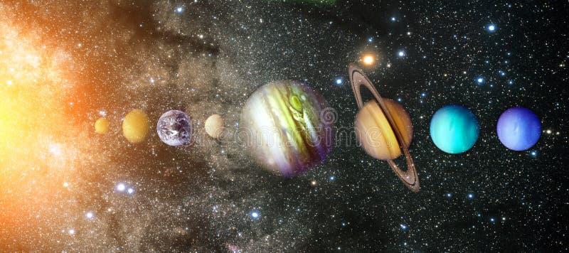 Planeten van het Zonnestelsel stock foto's