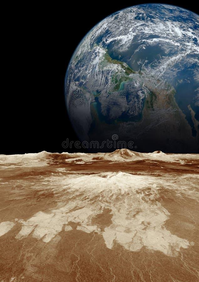 Planetenerde im Raum stockfoto