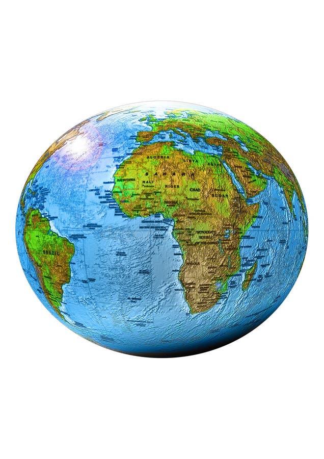 Planetenerde Lokalisiert Stockfotos