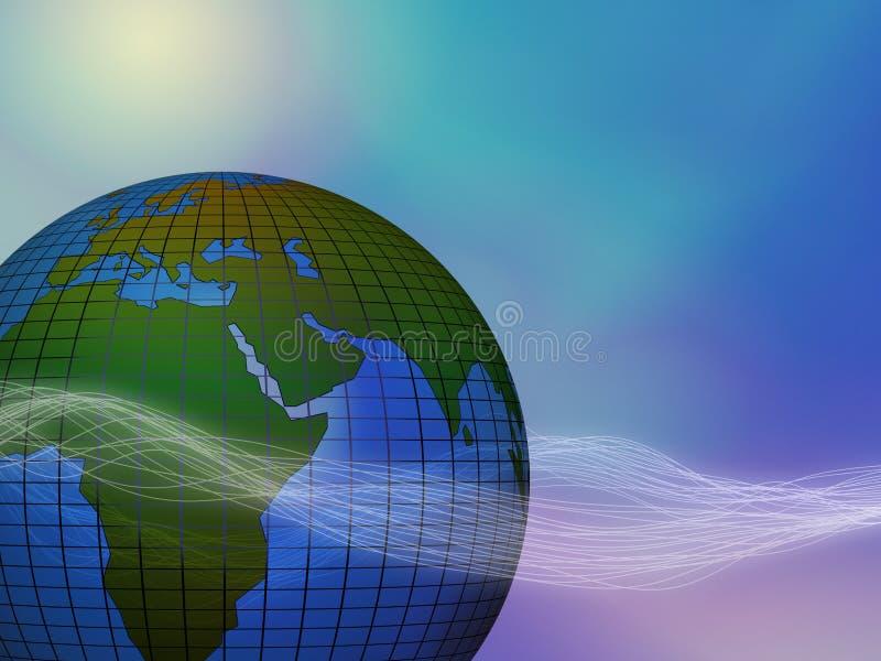Planetenerde- und -energiewellen lizenzfreie abbildung
