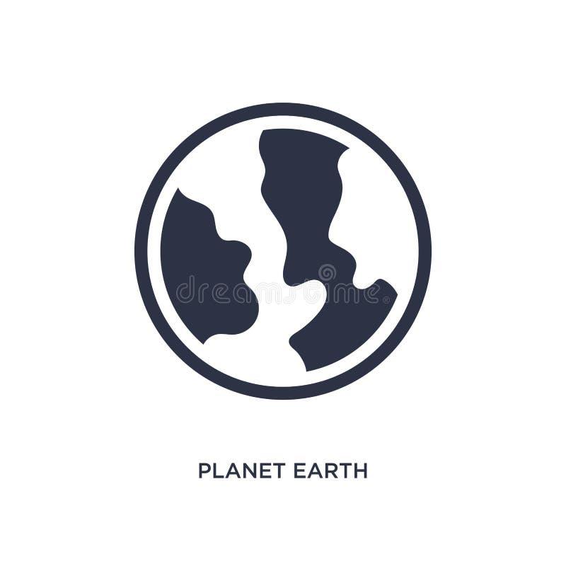 Planetenerdikone auf weißem Hintergrund Einfache Elementillustration von der Lieferung und vom logistischen Konzept vektor abbildung