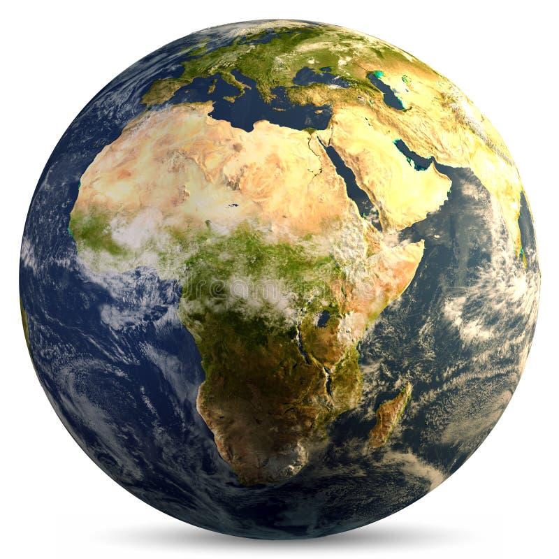 Planetenerdkugel lizenzfreie abbildung