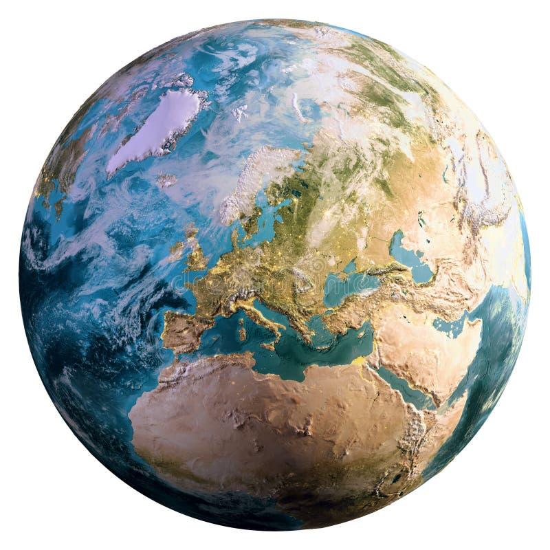 Planetenerdkugel stock abbildung