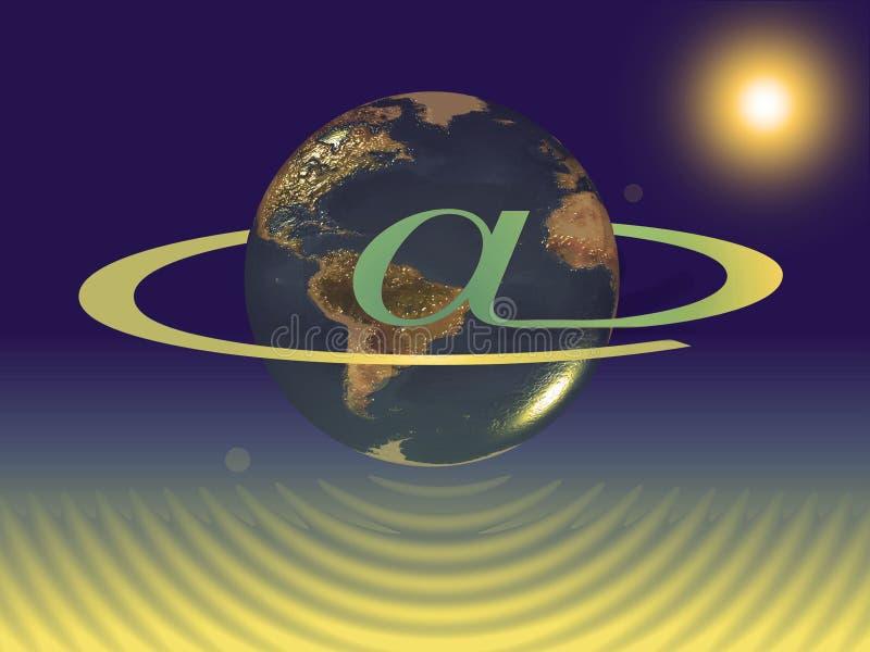 Planeteninternet stock abbildung