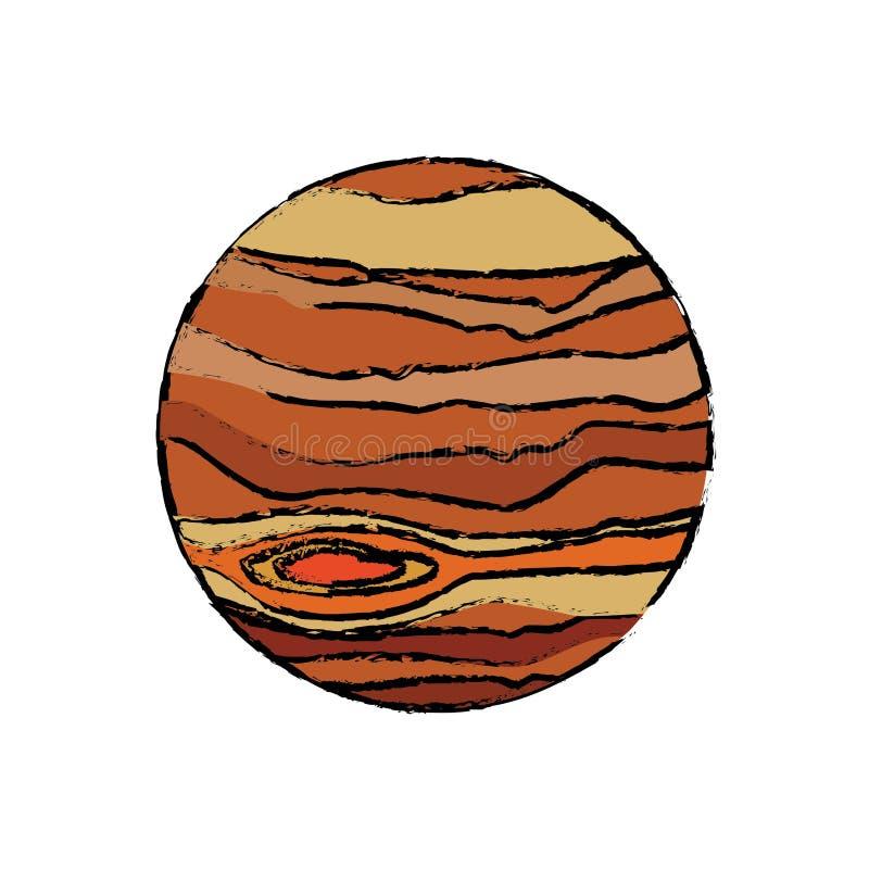 Planetenjupiter-Astronomieuniversumikone lizenzfreie abbildung