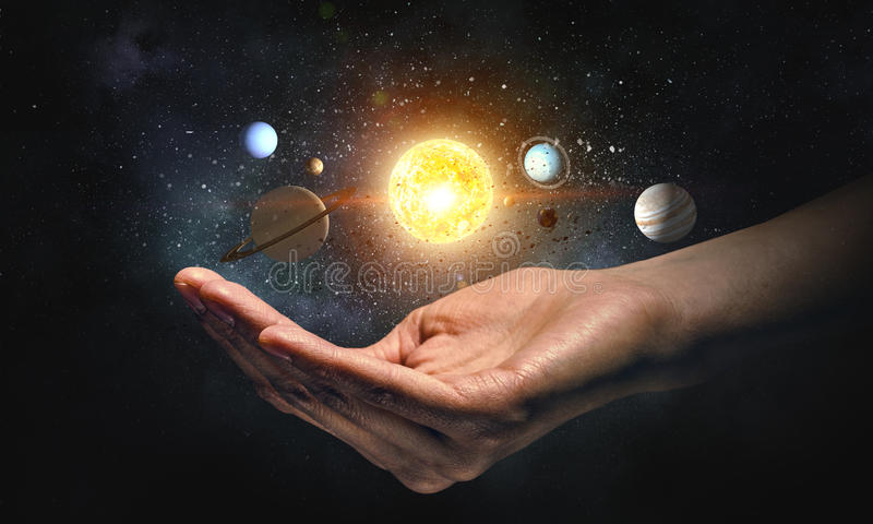 Planeter av solsystemet arkivfoto