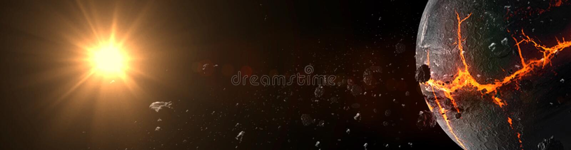 Planeter och galax, kosmos, fysisk kosmologi royaltyfri foto