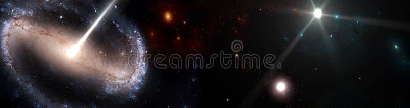 Planeter och galax, kosmos, fysisk kosmologi royaltyfria foton