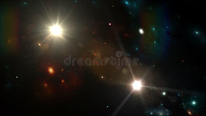 Planeter och galax, kosmos, fysisk kosmologi royaltyfri fotografi