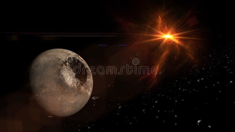 Planeter och galax, kosmos, fysisk kosmologi arkivbilder