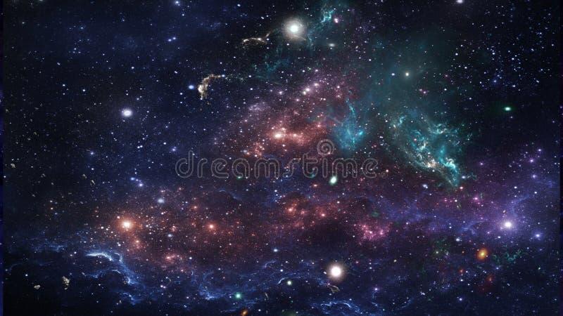 Planeter och galax, kosmos, fysisk kosmologi fotografering för bildbyråer