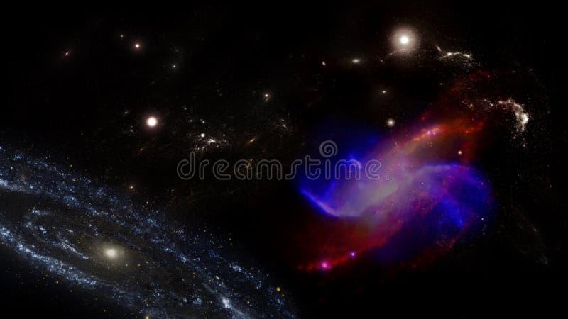 Planeter och galax Sciencetapet arkivfoton